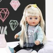 Кукла Zapf Baby Born Сестренка модница, с аксессуарами, 43 см (824245). Оригинал