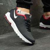 Кроссовки мужские нубук Nike AirMax dark blue
