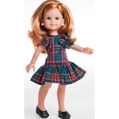 Кукла Paola Reina Клер в платье в клеточку 34505 (без коробки)