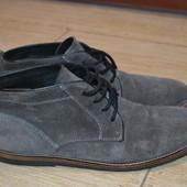 River Island 43р ботинки замшевые демисезонные. Оригинал.