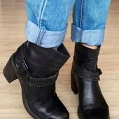 Кожа/minelli Италия,Оригинал ботинки,сапоги 37р/23-23,5см