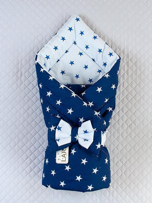 Конверт-одеяло для новорожденных, двухстороннее фото №1
