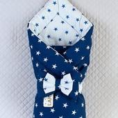 Конверт-одеяло для новорожденных, двухстороннее
