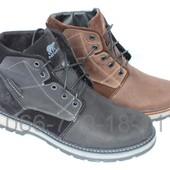 Мужские зимние кожаные ботинки, 2 цвета