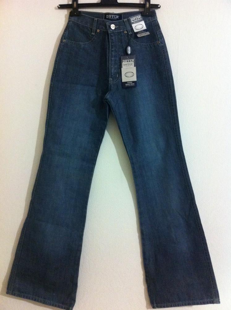 Плотные голубые джинсы клеш differ 27 фото №1