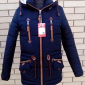 Зимняя курточка парка для мальчика р38-46