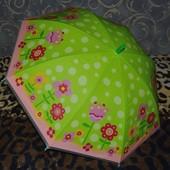 Зонтик зонт детский трость с яркими картинками Цветы
