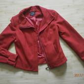 Теплый,шерстяной яркий пиджак,укороченное пальто р. 44 (С_М) в отличном состоянии
