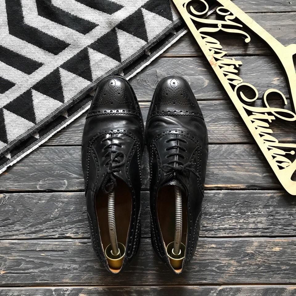 Кожаные туфли броги Jones р-р 42-43 фото №1