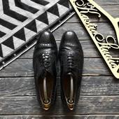 Кожаные туфли броги Jones р-р 42-43