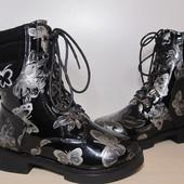 Ботинки на девочку арт.KK170-002 р.27-32 B&G демисезонные, сапоги биджи ботинки на дівчинку демі