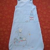 до 6 месяцев Велюровый спальный мешок M&S, б/у. Хорошее состояние, без дефектов. Длина 68 см. На сен