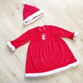 Новогоднее платье снегурочка подружка Санты 2-3 года Matalan