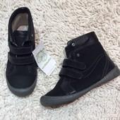 Новые кожаные ботиночки для девочки р 31 Vertbaudet(Франция)