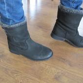 Кожаные  женские ботинки Next 5р (38) 24см