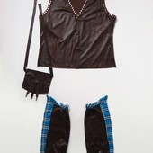 Продаю! 14-16 лет Карнавальный костюм Ковбой (жилет, чапсы и сумка), б/у. Хорошее состояние, без пят