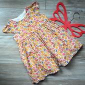 Платье с цветочным принтом Next (9-12 мес)-