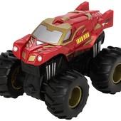 Hot Wheels Monster Jam Внедорожник джип инерционный железный человек 1:43 scale rev tredz iron man