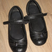 Туфли кожаные clarks 1 - 1,2 22 см