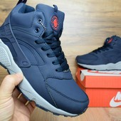 Кроссовки зимние Nike Huarache dark blue