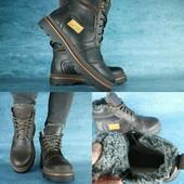 Ботинки Ricсons, зимние, натур. кожа на меху, р 40-45, код gavk-10531