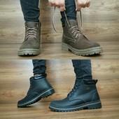 Ботинки в стиле Timberland, натур. кожа на меху, р 40-45, код gavk-10456