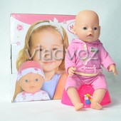 Кукла пупс розовый боди 9 предметов 9 функций 2548