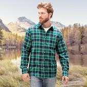 Мужская клетчатая рубашка XL 56-58 евро Tchibo тсм Германия