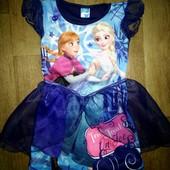 Платье Эльза и Анна на 3-4года (92-98см).Фрозен.