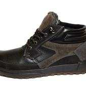 Стильные мужские ботинки с утеплителем на зиму (М-1901)