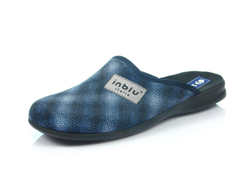 100-OG-1V-004 , Тапочки мужские домашние Inblu Инблу , цвет - синий, размеры 40-46 фото №1