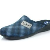 100-OG-1V-004 , Тапочки мужские домашние Inblu Инблу , цвет - синий, размеры 40-46