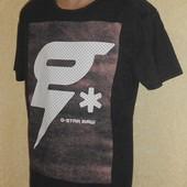 Фирменная футболка G-Star raw серого цвета. Размер L