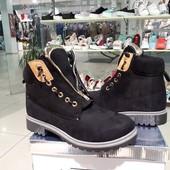 Ботинки женские зимние черные и серые