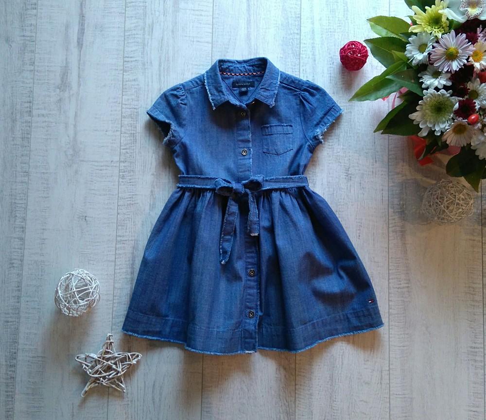 2 года моднячее джинсовое платье tommy hilfiger фото №1