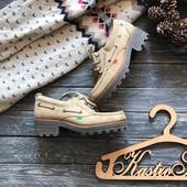 Мокасины на каблуке туфли Kickers рр 40