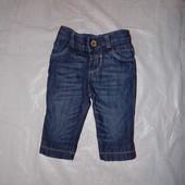 0-3 мес., р. 50-62 джинсы скинни на подкладке Rocha фирменные джинсики
