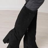 Женские сапоги, кожаные сапоги, стильные сапоги из кожи или замша