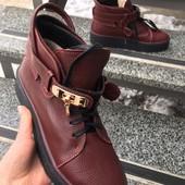 Ботинки кожа зима