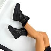 Зимние ботинки с меховой опушкой,