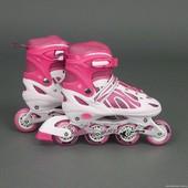 Бест 2002 ролики M 34-37 размер детские Best Rollers роликовые коньки