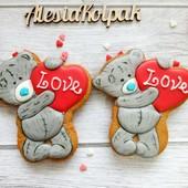 Валентинки, пряники к 14 февраля