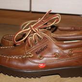 Стильные туфли , топсайдеры кожаные kickers