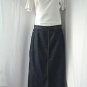 Хит сезона   джинсовая длинная юбка Laura Ashley с разрезом сзади размер 16 42 L XL
