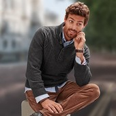 теплый вязаный свитер.ТСМ.чибо.Германия.М