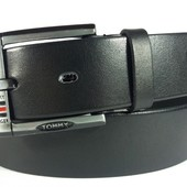 Джинсовый кожаный ремень Tommy Hilfiger