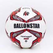 Мяч футбольный №5 Ballonstar 5414: PU, сшит вручную