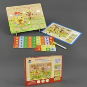 Деревянная обучающая игрушка Расчётная Доска С23211 дерево цифры счет