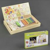 Деревянная обучающая игрушка Считалочка в шкатулочке счет цифры счетные палочки С23085 дерево