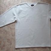 Белый флисовый свитшот  50-52